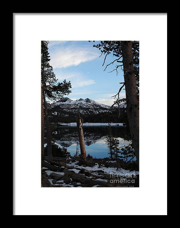 Caples Lake Framed Print featuring the photograph Caples Lake by Nancy Chambers