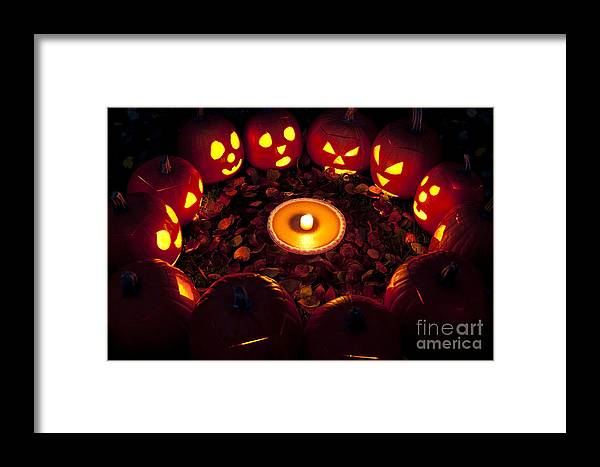 31st Framed Print featuring the photograph Pumpkin Seance With Pumpkin Pie by Jim Corwin