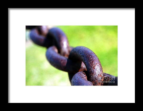 Rusty Framed Print featuring the photograph Chain by Henrik Lehnerer