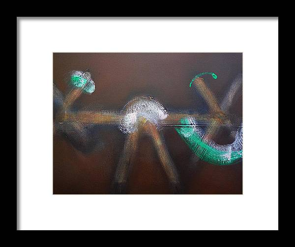 Chaos Framed Print featuring the painting Chaos Ride by Charles Stuart