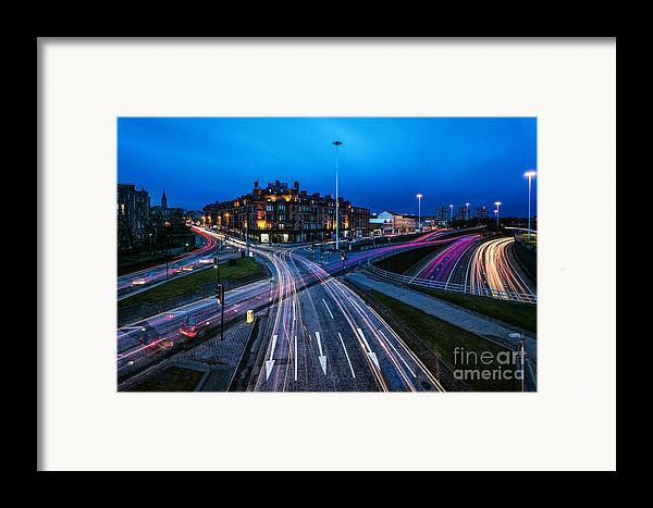 Cityscape Framed Prints Framed Print featuring the photograph Charing Cross Glasgow by John Farnan