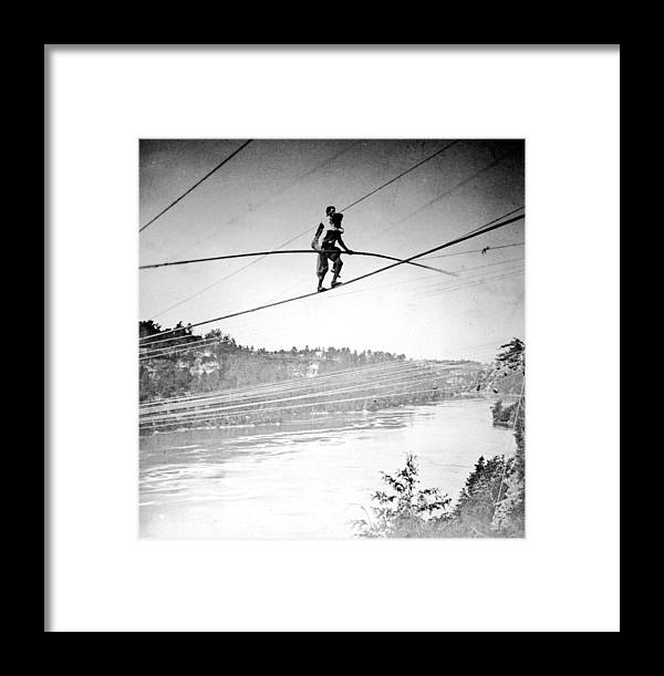 Charles Blondin, French Daredevil Framed Print