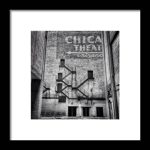 Alley Framed Print featuring the photograph Chicago Theatre Alley Entrance Photo by Paul Velgos