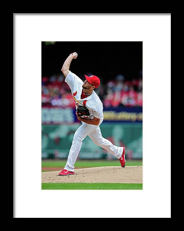 St. Louis Cardinals Framed Print featuring the photograph Chicago Cubs V St. Louis Cardinals 1 by Jeff Curry