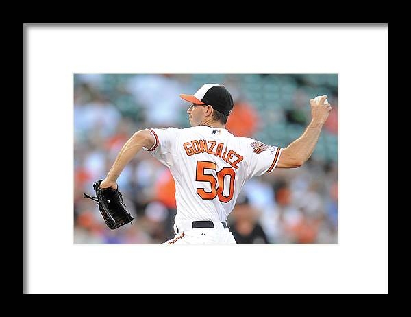 American League Baseball Framed Print featuring the photograph Chicago White Sox V Baltimore Orioles by Mitchell Layton
