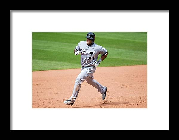 Ninth Inning Framed Print featuring the photograph Chicago White Sox V Cleveland Indians 1 by Jason Miller
