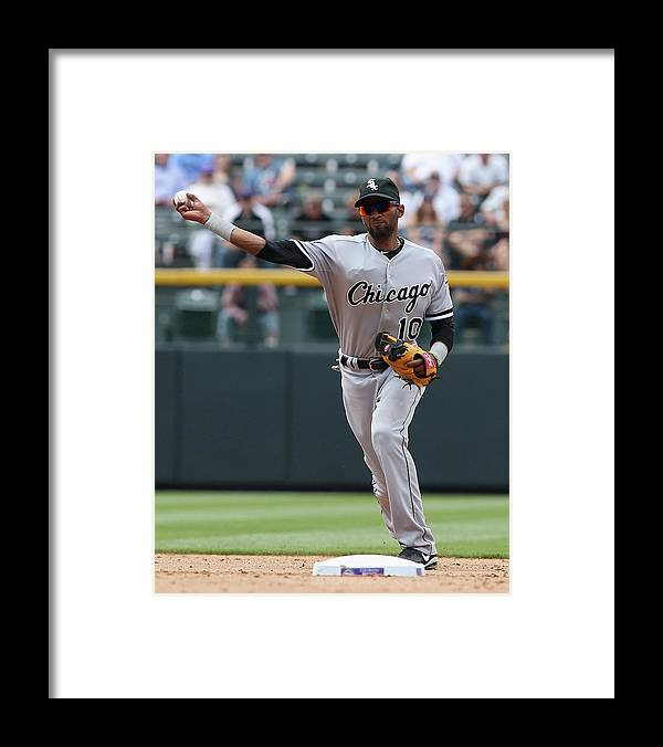 American League Baseball Framed Print featuring the photograph Chicago White Sox V Colorado Rockies by Doug Pensinger