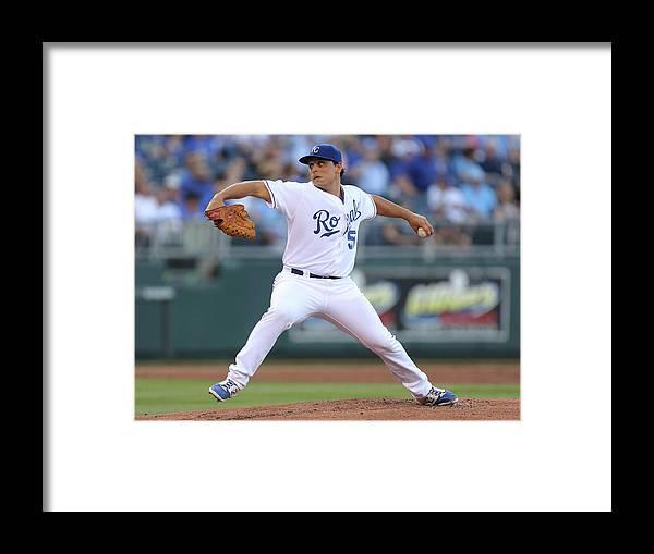 American League Baseball Framed Print featuring the photograph Chicago White Sox V Kansas City Royals 1 by Ed Zurga