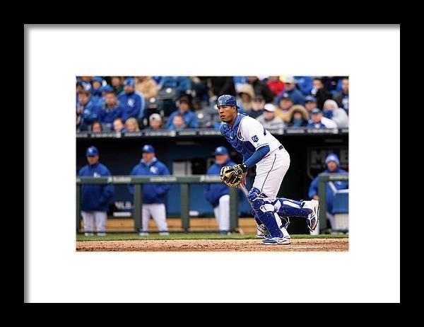 Salvador Perez Diaz Framed Print featuring the photograph Chicago White Sox V. Kansas City Royals by John Williamson