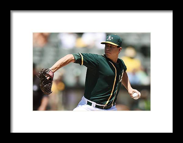 American League Baseball Framed Print featuring the photograph Chicago White Sox V Oakland Athletics 1 by Thearon W. Henderson