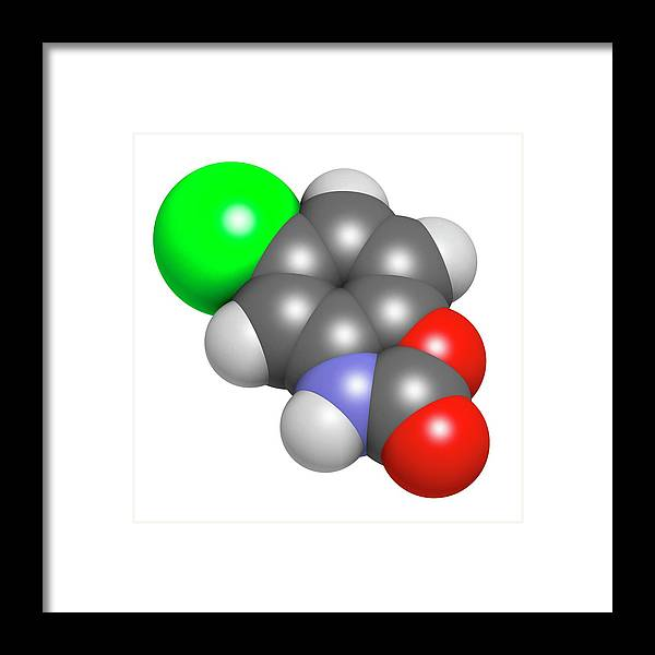 Chlorzoxazon Framed Print featuring the photograph Chlorzoxazone Muscle Relaxant Drug by Molekuul