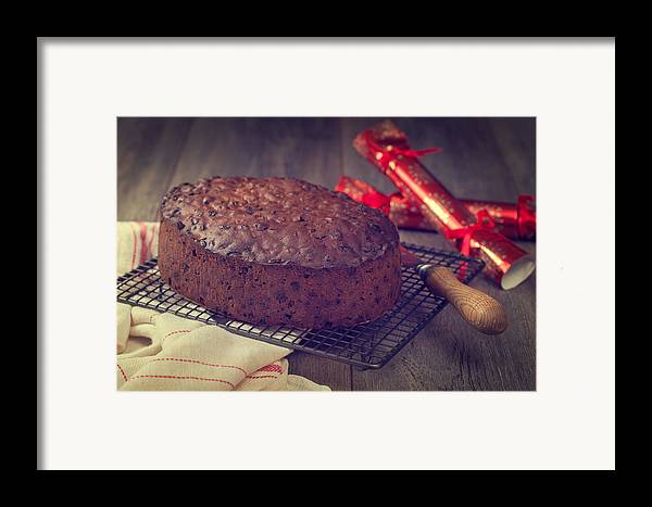 Christmas Framed Print featuring the photograph Christmas Cake by Amanda Elwell