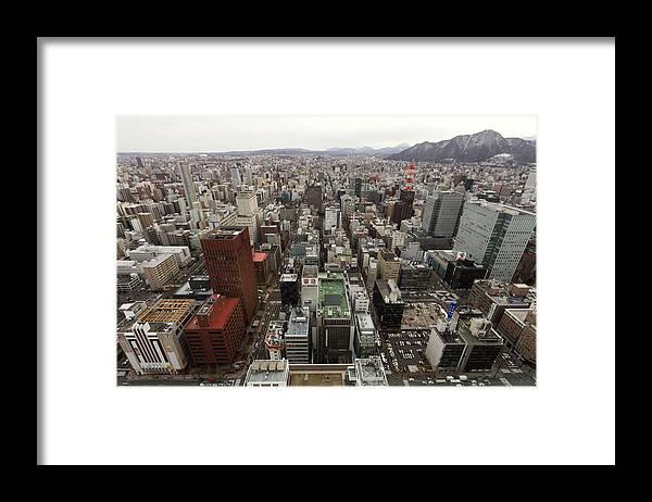 Hokkaido Framed Print featuring the photograph Cityscape Of Sapporo, Hokkaido, Japan by Tetsuya Aoki