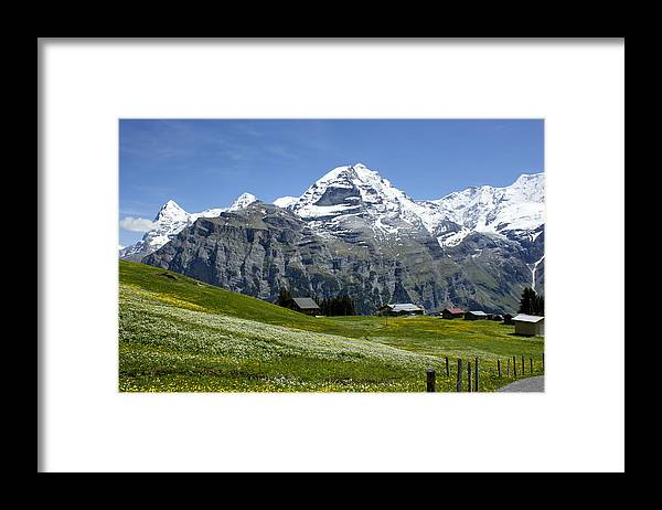 Eiger Framed Print featuring the photograph Classic Swiss Alps by Brian Kamprath