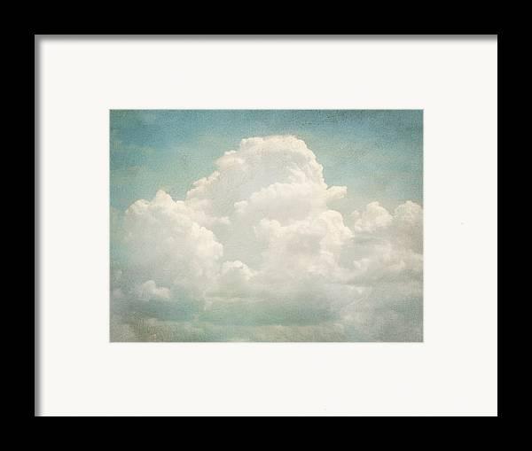 Brett Framed Print featuring the digital art Cloud Series 3 Of 6 by Brett Pfister
