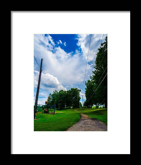 Nature Framed Print featuring the photograph Cloudy Trail by Ryan Routt