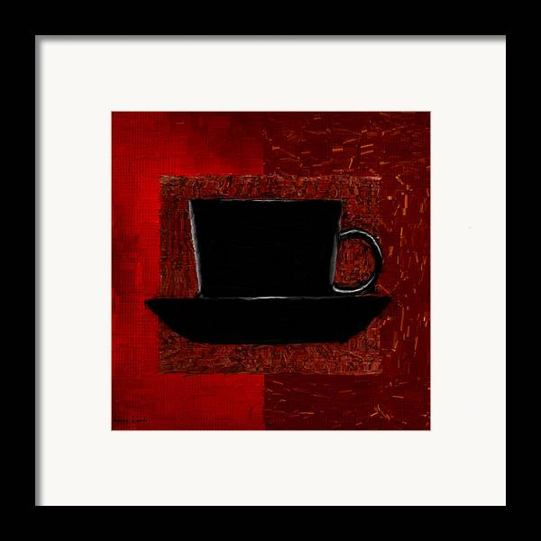 Coffee Framed Print featuring the digital art Coffee Passion by Lourry Legarde
