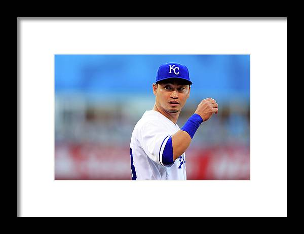 American League Baseball Framed Print featuring the photograph Colorado Rockies V Kansas City Royals 1 by Jamie Squire
