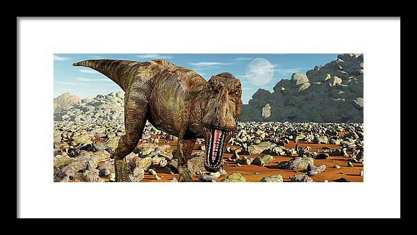 Horizontal Framed Print featuring the photograph Confrontation With A Carnivorous by Mark Stevenson