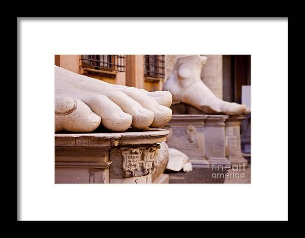 Emperor Constantine Framed Print featuring the photograph Constantine Foot by Brian Jannsen