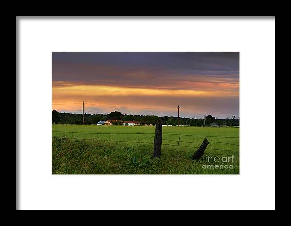 Country Framed Print featuring the photograph Country Evening by Irina Hays