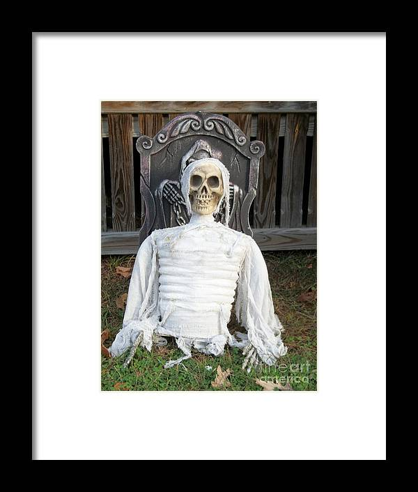 Holidays Framed Print featuring the photograph Creepy Skulled Mummy by Spirit Baker
