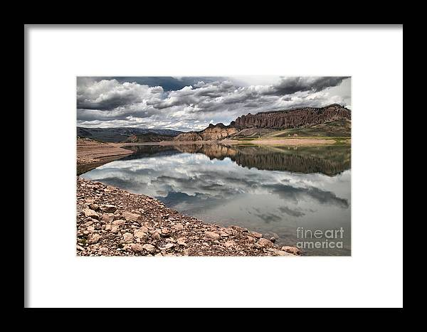 Curecanti Framed Print featuring the photograph Curecanti Dillon Pinnacles by Adam Jewell