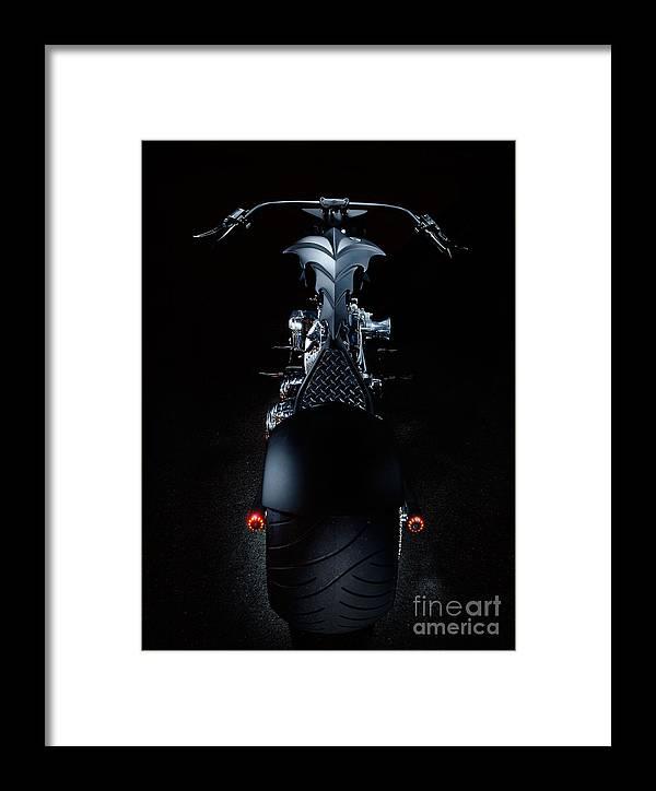 Harley Framed Print featuring the photograph Custom Chopper by Frank Kletschkus