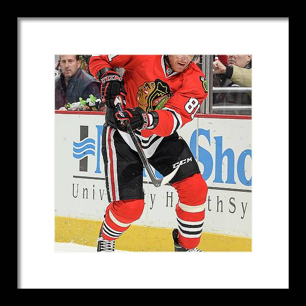 United Center Framed Print featuring the photograph Dallas Stars V Chicago Blackhawks 1 by Bill Smith