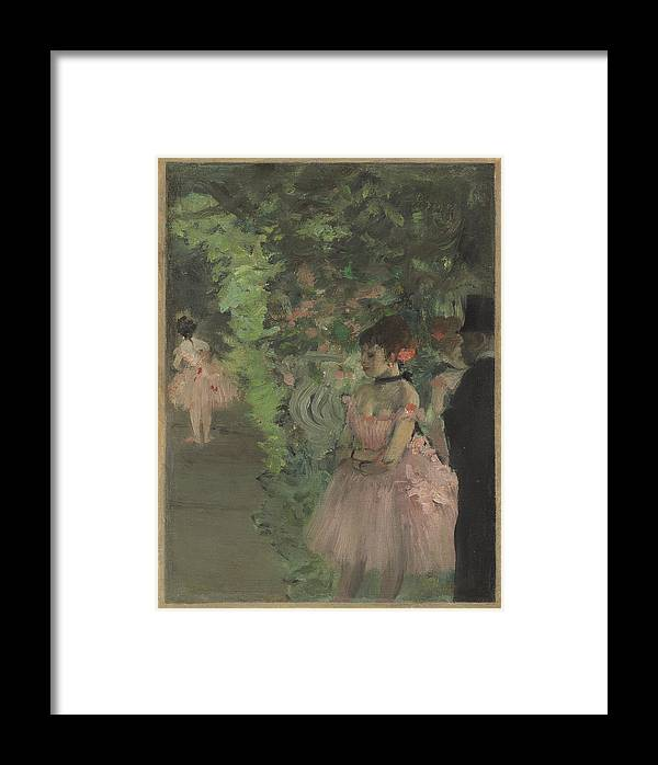 Edgar Degas Framed Print featuring the painting Dancers Backstage by Edgar Degas