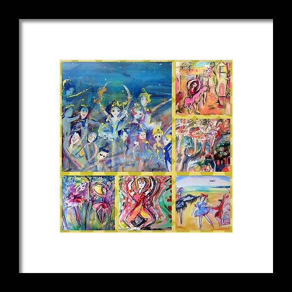 Friends Framed Print featuring the painting Dancing Friends by Judith Desrosiers
