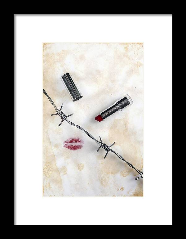 Wire Framed Print featuring the photograph Dangerous Kisses by Joana Kruse