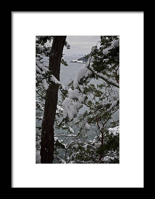 Deception Pass Framed Print featuring the photograph December's Point by Tom Trimbath