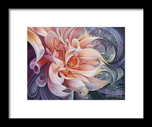 Curves Framed Print featuring the painting Delight by Ricardo Chavez-Mendez