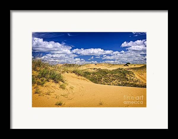 Sand Framed Print featuring the photograph Desert Landscape In Manitoba by Elena Elisseeva