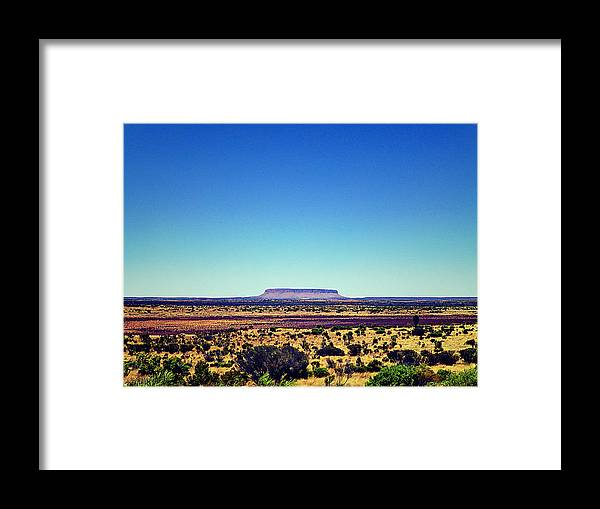 Desert Framed Print featuring the photograph Desert Monolith by Girish J