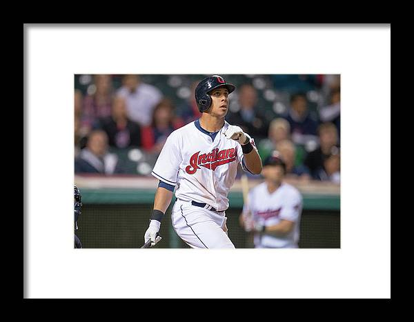 American League Baseball Framed Print featuring the photograph Detroit Tigers V Cleveland Indians 1 by Jason Miller