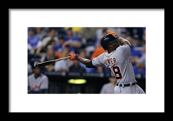 Ninth Inning Framed Print featuring the photograph Detroit Tigers V Kansas City Royals 1 by Ed Zurga