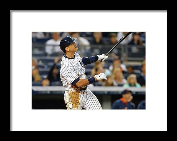 Following Framed Print featuring the photograph Detroit Tigers V New York Yankees 1 by Jim Mcisaac
