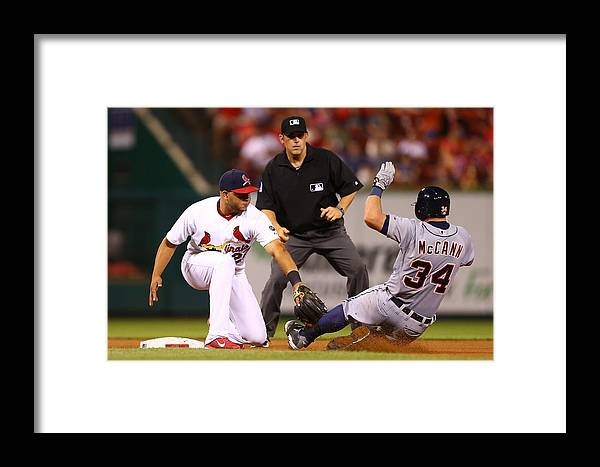 St. Louis Cardinals Framed Print featuring the photograph Detroit Tigers V St Louis Cardinals 1 by Dilip Vishwanat