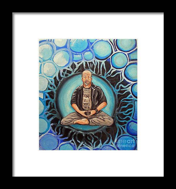 Buddha Framed Print featuring the painting Dharma Dad by John Gallivan