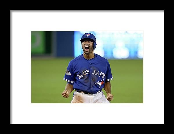 American League Baseball Framed Print featuring the photograph Division Series - Texas Rangers V by Vaughn Ridley