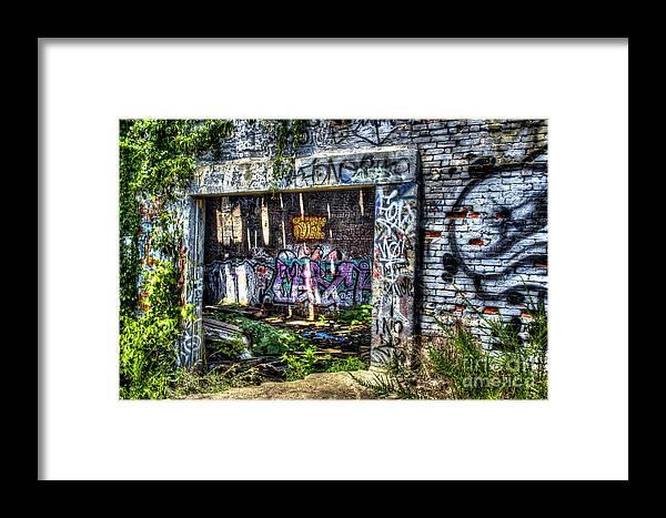 Graffiti Framed Print featuring the photograph Address Unknown by Daniel Gundlach
