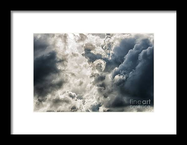 Stormy Sky Framed Print featuring the photograph Drama In The Sky by Thomas R Fletcher