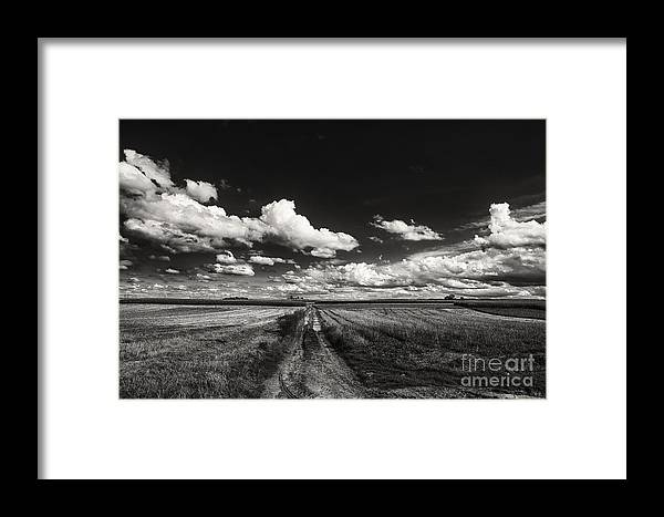 Blue Skies Landscape Framed Print featuring the photograph Drifting Clouds by Brothers Beerens