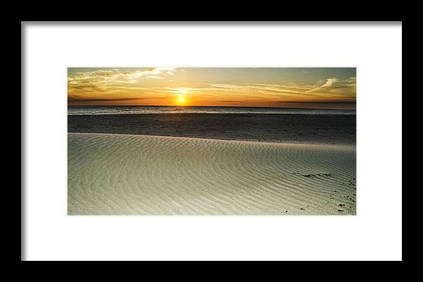 Amelia Island Sunrise Framed Print featuring the photograph Dune Sunrise by Island Sunrise and Sunsets Pieter Jordaan