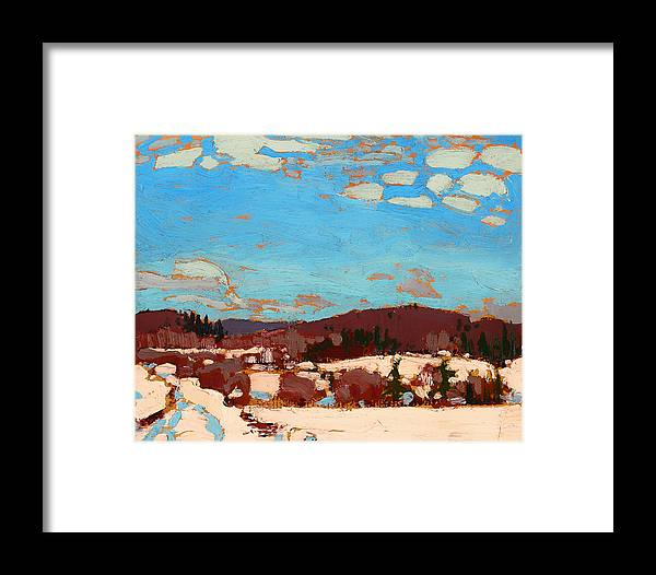 Painting Framed Print featuring the painting Early Spring by Mountain Dreams