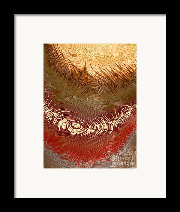 Fractal Framed Print featuring the digital art Earth Tones by Heidi Smith