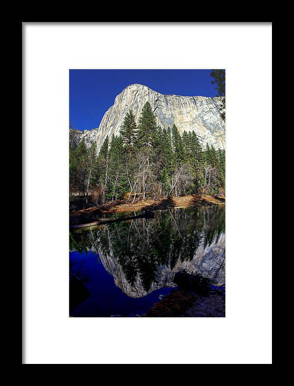 California Framed Print featuring the photograph El Capitan Reflection by Scott McGuire