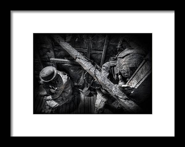 War Framed Print featuring the photograph Entrenched by Wayne Sherriff